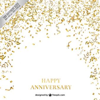 Confetti e serpentina anniversario sfondo