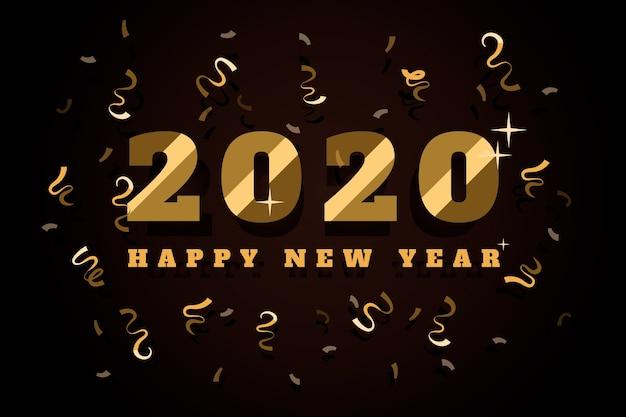 Confetti sullo sfondo del nuovo anno