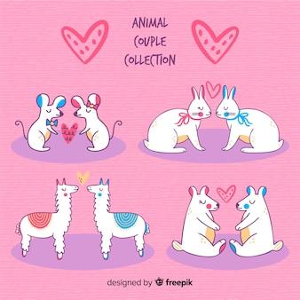 Confezione coppia di animali di san valentino