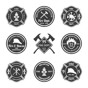 Confezione da badge vigili del fuoco