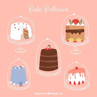 Confezione da cinque gustose torte