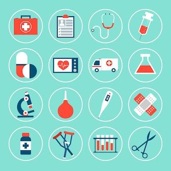 Confezione da icone mediche