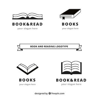 Confezione da libro loghi