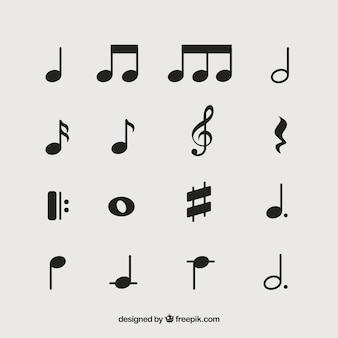 Confezione da note musicali