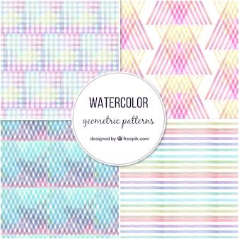 Confezione da quattro motivi geometrici colorati