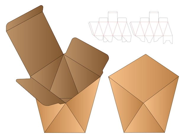 Confezione da scatola modello fustellato design.