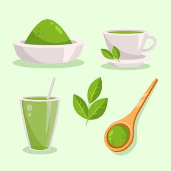 Confezione da tè matcha