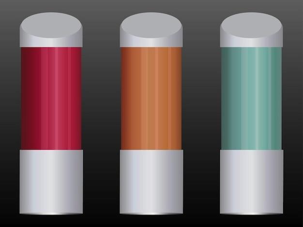 Confezione del prodotto mockup modelli vettoriali
