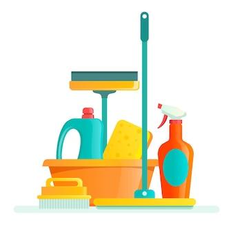 Confezione di attrezzature per la pulizia