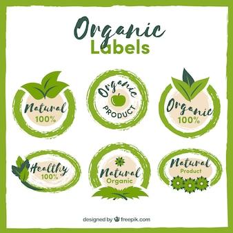 Confezione di autoadesivi organici disegnati a mano