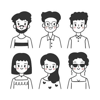 Confezione di avatar di persone