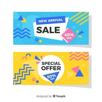 Confezione di banner di vendita di memphis