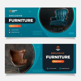 Confezione di banner di vendita di mobili