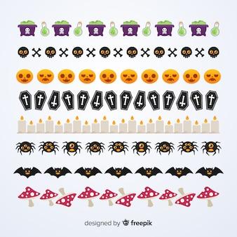 Confezione di bordi decorativi di halloween in design for Bordi decorativi