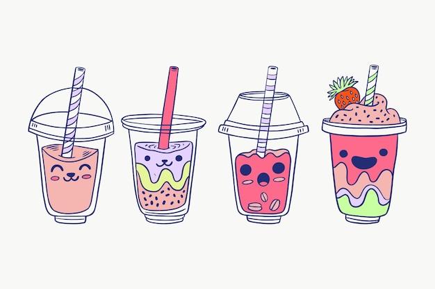 Confezione di bubble tea kawaii