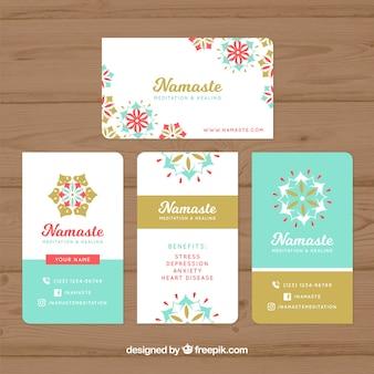 Confezione di carte mandala colorate