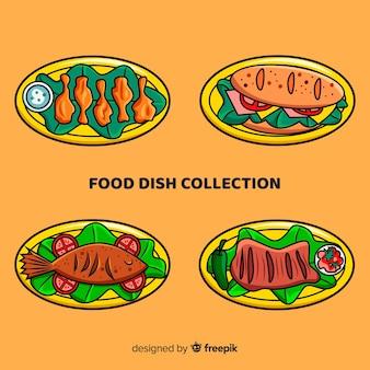 Confezione di cibo disegnato a mano