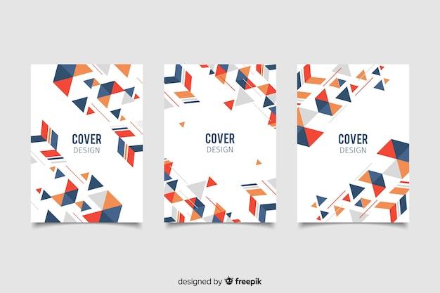 Confezione di copertine con disegno geometrico
