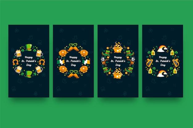 Confezione di diverse m. colorate. storie del giorno di patrick