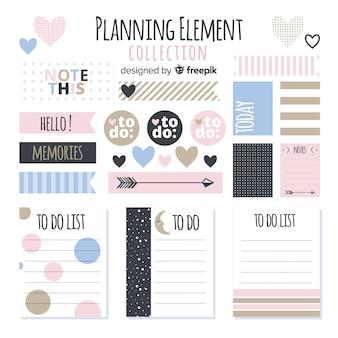 Confezione di elementi di pianificazione