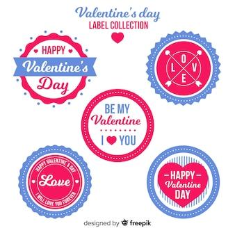 Confezione di etichette cerchiata san valentino