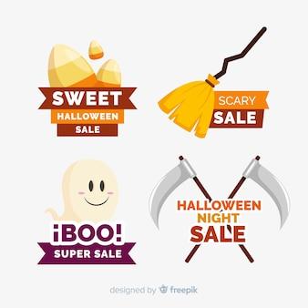 Confezione di etichette di vendita di halloween