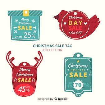 Confezione di etichette natalizie