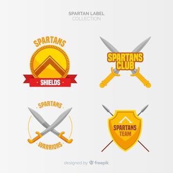 Confezione di etichette spartane