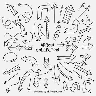 Confezione di frecce disegnate a mano