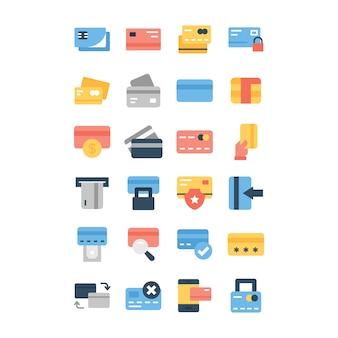 Confezione di icone di carte bancarie