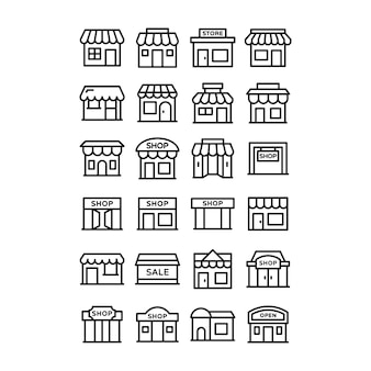 Confezione di icone negozio