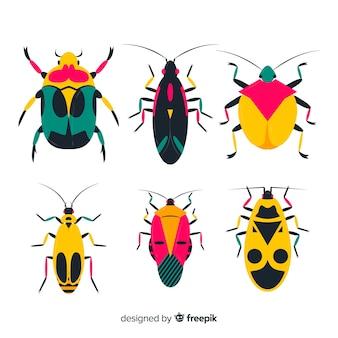 Confezione di insetti piatta