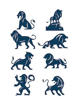 Confezione di leone shilouette