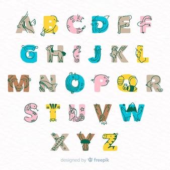 Confezione di lettere con animali