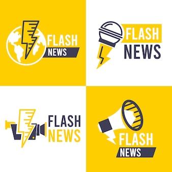 Confezione di loghi di notizie