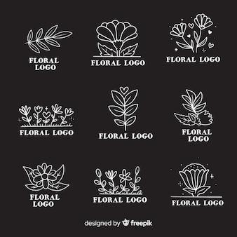 Confezione di loghi per fioristi da matrimonio