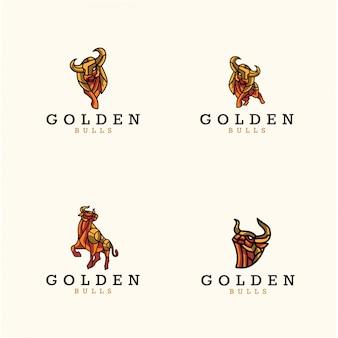 Confezione di logo di tori d'oro