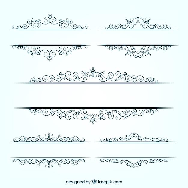 Confezione di nozze floreale cornici in design piatto