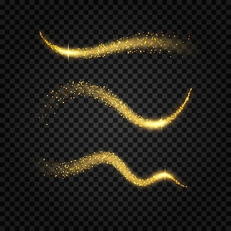 Confezione di onde glitterate