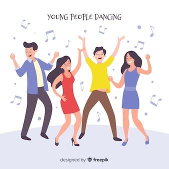 Confezione di persone disegnate a mano danza