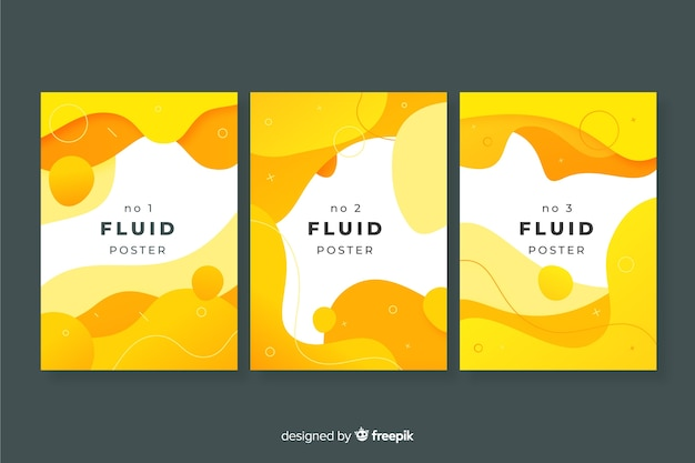 Confezione di poster di forme fluide
