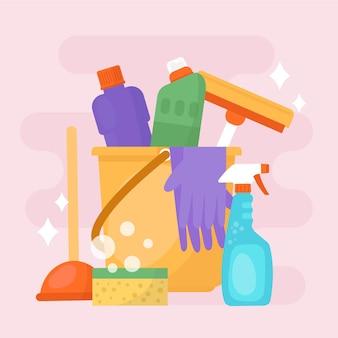Confezione di prodotti per la pulizia delle superfici