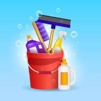 Confezione di prodotti per la pulizia