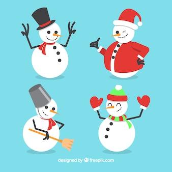 Confezione di pupazzi di neve con accessori