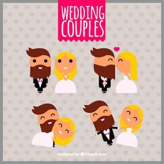 Confezione di sposi geometriche