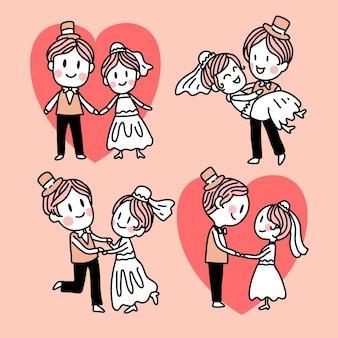 Confezione di sposi