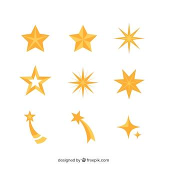Confezione di stelle decorative