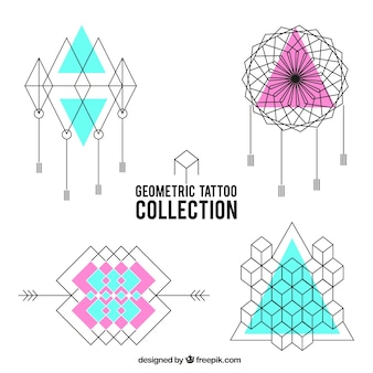 Confezione di tatuaggi geometrici