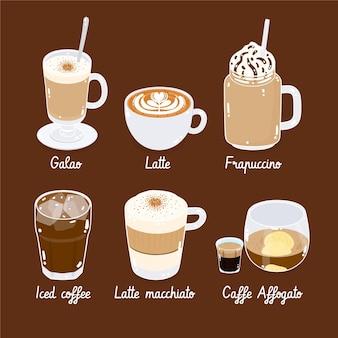 Confezione di tipi di caffè