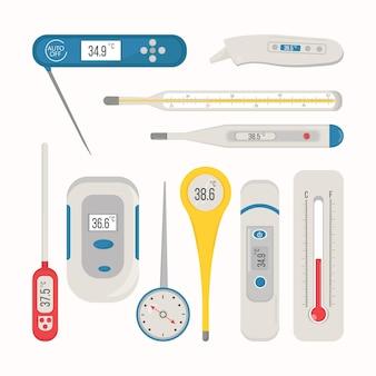 Confezione di tipi di termometro